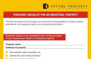 Step-by-step Property Purchase Checklist for Industrial Property